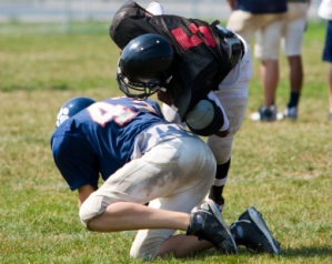 Football tackle slide show size